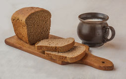 Rye bread on a cutting board Stock Photo