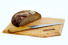 Rye bread on a cutting board Stock Photo