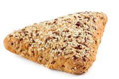 Rye bread with flax seeds Royalty Free Stock Photography
