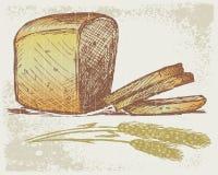 Rye bread. Grunge style. Vector illustration Royalty Free Stock Photo