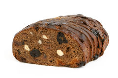 Rye bread with hazelnuts and fruits royalty free stock images