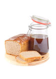 Rye bread with honey Stock Photos