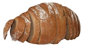 Rye bread. Isolate. Appetizing Rye bread isolated on a white background Stock Photo