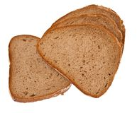 Rye bread. Isolate. Appetizing Rye bread isolated on a white background Stock Image