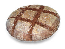 Rye bread isolated over white. stock photos