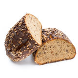 Rye bread isolated on white background. Royalty Free Stock Images