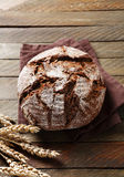 Rye bread on a linen napkin Royalty Free Stock Photos