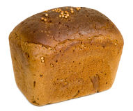 Rye bread. A loaf of rye bread isolated on white background Stock Photography