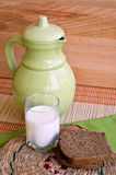 Rye bread and milk Royalty Free Stock Image