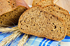 Rye bread on a napkin Stock Image