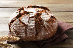 Rye bread on a napkin Stock Photography