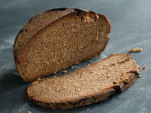 Rye bread. On an old background, selective focus Royalty Free Stock Image