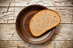 Rye bread in a plate Royalty Free Stock Image
