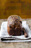 Rye bread with prunes and nuts Stock Image