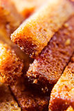 Rye bread roasted with salt and vegetable oil. Snack for beer Stock Images