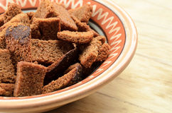 Rye bread rusks Royalty Free Stock Photos