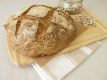 Rye bread with rye croats and seeds Stock Photography