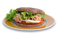 Rye bread sadwich Royalty Free Stock Photos