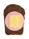 Rye bread with salami Stock Photography