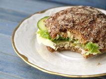 Rye Bread Sandwich Royalty Free Stock Photo
