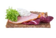 Rye bread sandwich Stock Images