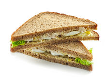 Rye bread sandwich with chicken and egg Royalty Free Stock Photo