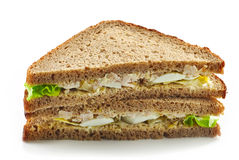 Rye bread sandwich with chicken and egg Stock Images