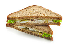 Rye bread sandwich with chicken and egg Stock Image