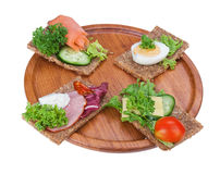 Rye bread sandwiches Stock Photography