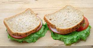 Rye bread sandwiches Stock Images