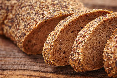 Rye bread with seeds Royalty Free Stock Photos