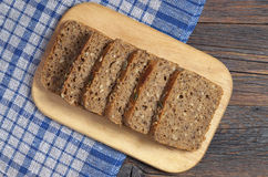 Rye bread with seeds Stock Photo