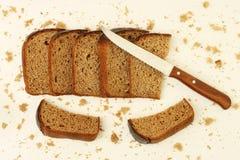 Rye bread sliced stock image