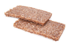 Rye bread slices Stock Images