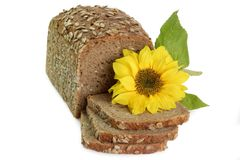 Rye Bread with Sunflower Royalty Free Stock Images
