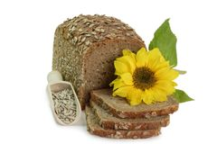 Rye-Bread with Sunflower Seeds Stock Photos