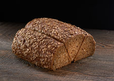Rye bread with sunflower seeds Stock Image