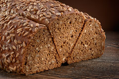 Rye bread with sunflower seeds Stock Images