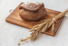 Rye bread Tabatiere on a cutting board Royalty Free Stock Photo
