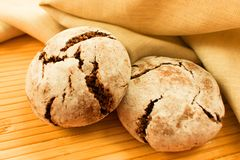 Rye bread on the table royalty free stock photo
