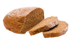 Rye bread on white background. Object on white - food rye bread Royalty Free Stock Photos
