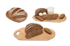 Rye bread on a white background Royalty Free Stock Photos