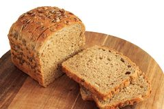 Rye bread on a white background. royalty free stock images