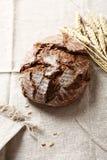 Rye bread on a white linen napkin Royalty Free Stock Image