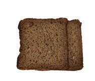 100% rye bread with whole grain and no yeast Royalty Free Stock Image