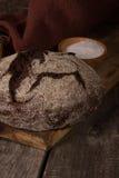 Rye bread on a wooden board Stock Photo