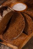 Rye bread on a wooden board Royalty Free Stock Image