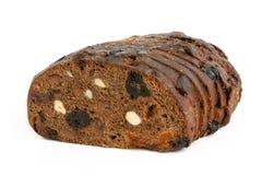 Rye-Brot mit Haselnüßen und Früchten lizenzfreie stockbilder
