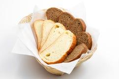 Rye-Brot und Weizenbrot stockfotos