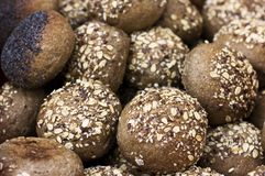 Rye buns with cereals and poppy seeds royalty free stock image